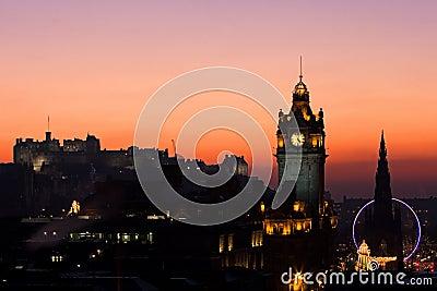 Edinburgh Christmas Sunset