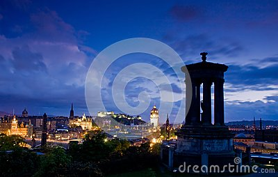 Edinburgh city night scene