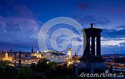 Edinburgh city night scene