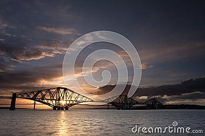 Edinburgh Forth Bridge Sunset