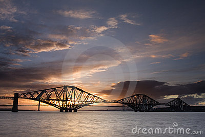 Edinburgh Forth Bridge Sunset