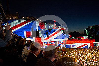 Edinburgh Military Tattoo Editorial Stock Photo