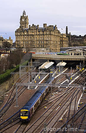 Edinburgh Rail Train station