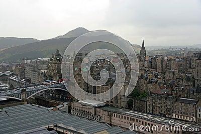 Edinburgh rainy day