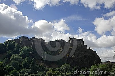Edinburgh rock and castle, Sco