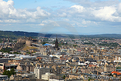 Edinburgh from salisbury s crag