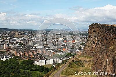 Edinburgh from salisbury s crag