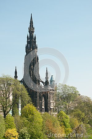 The Edinburgh Scott monument on Princes Street