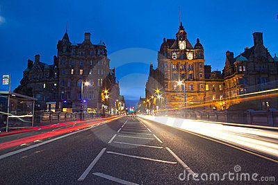 Edinburgh Street Editorial Photography