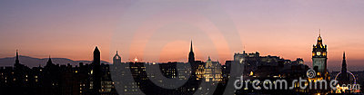 Edinburgh Sunset Panorama
