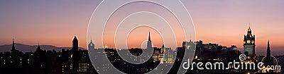 Edinburgh Sunset Panorama