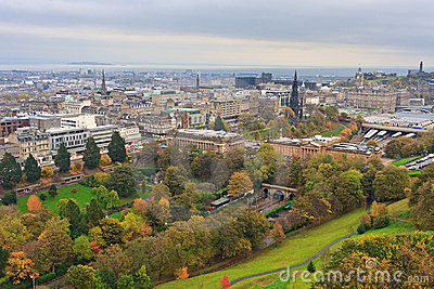Edinburgh, View on city