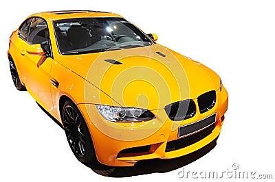 Edição amarela do tigre do Bmw m3 do carro