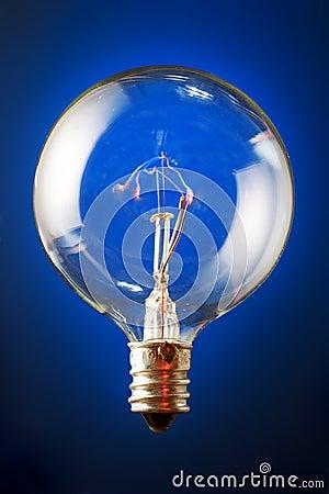 Edison s lit filament bulb