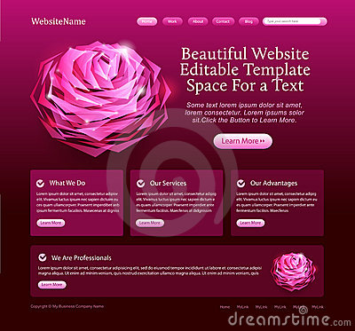 Editable beautiful website template