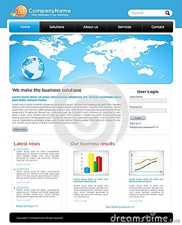 A editable business website template