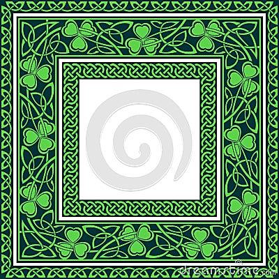Free Editable Celtic Borders Royalty Free Stock Image - 42747656