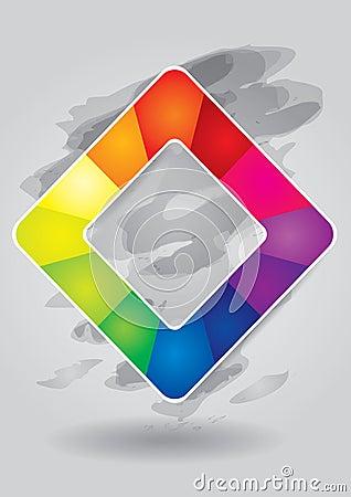 Editable color square  template