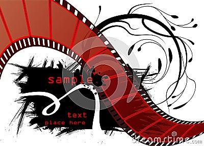 Editable film vector