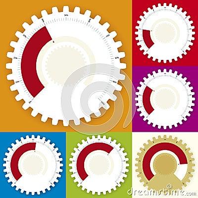 Editable gear chart (vector)