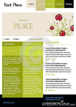 Editable vector web site template