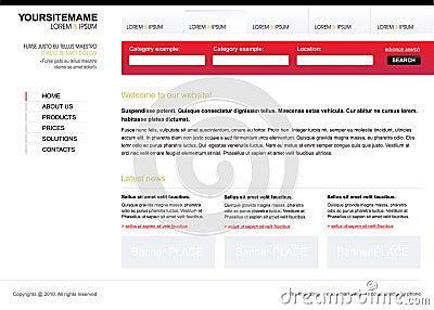 Editable web site template