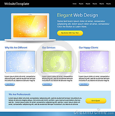 Editable web site template