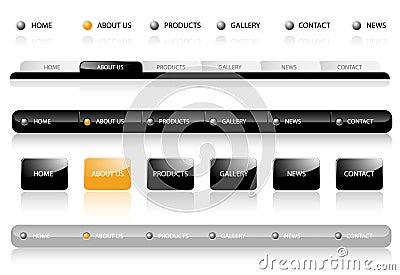 Editable Website Navigation Templates