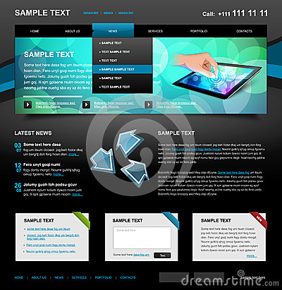 Editable Website Template 4