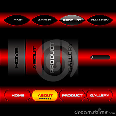 Editable website vector buttons