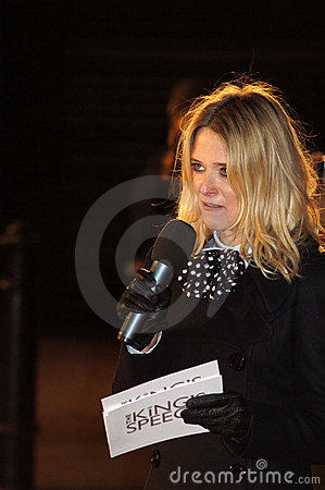 Edith Bowman At The King s Speech Editorial Photography