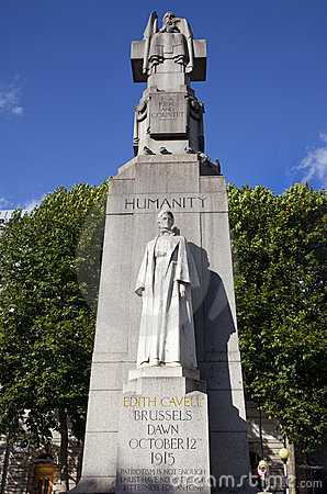 Edith Cavell Statue in London.