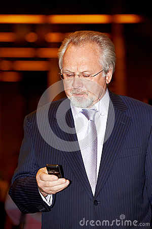 Editor-in-chief of newspaper Moskovsky Komsomolets Editorial Stock Photo