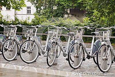 Editorial bicycle rental Ljubljana Slovenia Editorial Photo