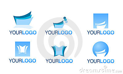 Editorial financial logo vector set