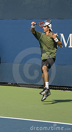 Editorial luigi d agord forehand us open 2009 Editorial Stock Image