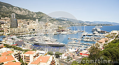 Editorial Monaco Grand Prix harbor Editorial Stock Photo