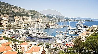Editorial Monaco Grand Prix harbor Editorial Stock Photo