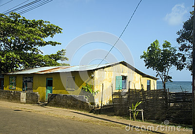 Editorial Nico s bar disco fish processing center Corn Island Ni Editorial Stock Photo