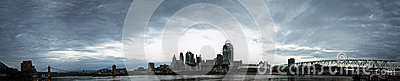 EDITORIAL Panorama of Cincinnati Ohio Editorial Photography
