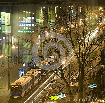 Editorial Pavia Street shopping mall night scene Krakow, Poland Editorial Photography