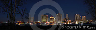 Editorial version Panorama New Orleans Skyline Editorial Stock Photo