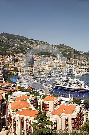 Editorial view of port harbor Monte Carlo Monaco Editorial Photo