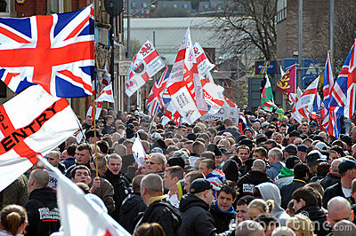 EDL Demo in Blackburn Editorial Photography