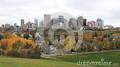 Edmonton, Canadá do centro na queda, um timelapse 4K filme