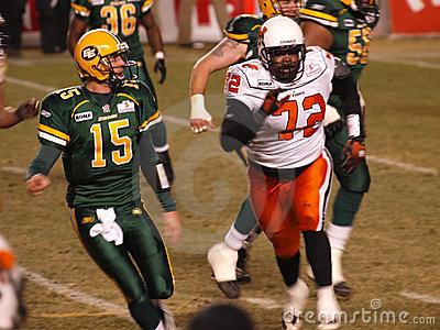 Edmonton Eskimos vs. B.C. Lions Editorial Stock Image