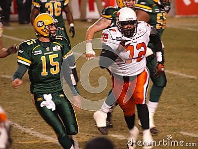 Edmonton Eskimos vs. B.C. Lions Editorial Stock Image