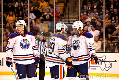 Edmonton Oilers: Jones, Gagner & Peckham Editorial Stock Image