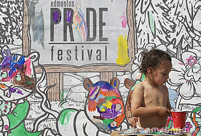 Edmonton Pride Festival painting Editorial Photo