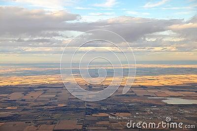 Edmonton suburban from air